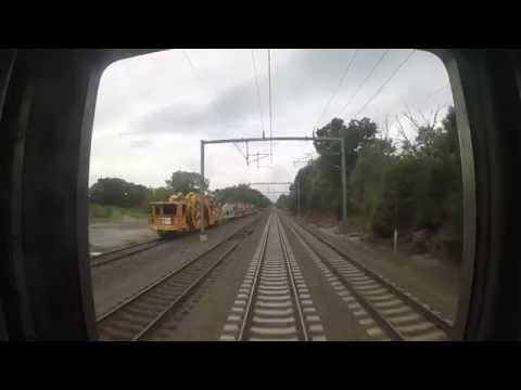 Amtrak Train 172 - New Haven to Old Saybrook Rear View (GoPro)