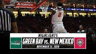 Green Bay vs. New Mexico Basketball Highlights (2019-20) | Stadium