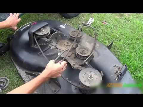 Replacing The Deck Belt On An Old Style 42in Craftsman Mower