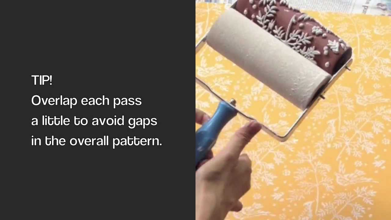 Decorette Patterned Paint Rollers How To Use Standard Applicator