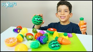 Learn Fruits and Vegetables with Toys for Kids