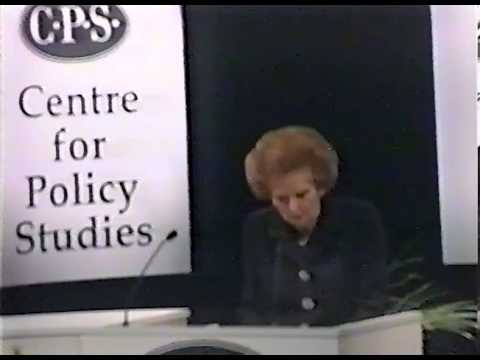 Baroness Thatcher - 1996 CPS Keith Joseph Memorial Lecture