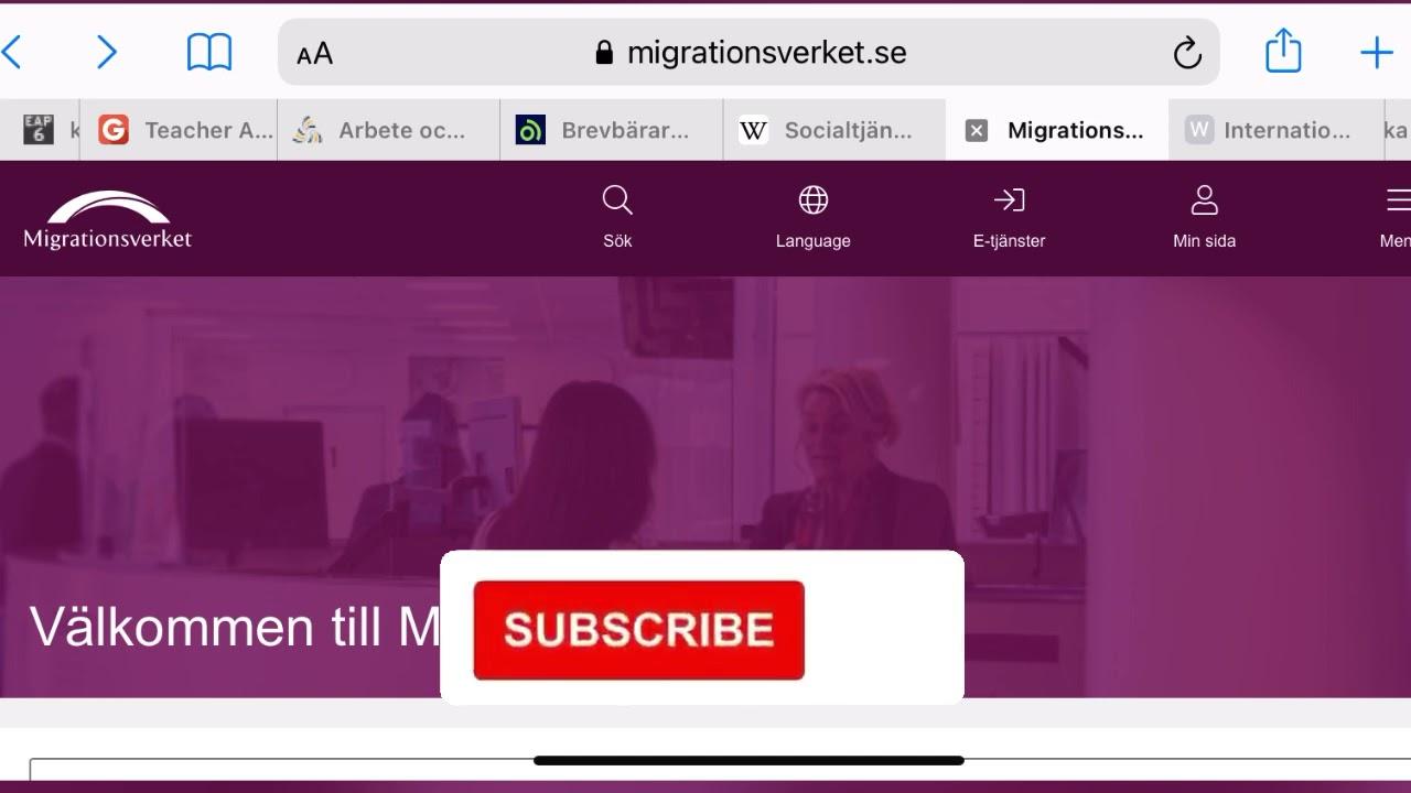 عنوان مصلحة الهجرة السويدية لإرسال أوراق طلب تمديد الاقامة المؤقتة