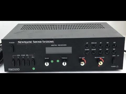 Bogen RM350D Public Address System Tuner Amplifier