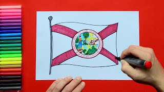 How to draw and color the State Flag of Florida