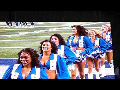 Dallas Cowboys Cheerleader Abigail Klein at end