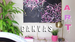 THRIFT FLIP - Thrifted Canvas Art Makeover | RushOurFashion