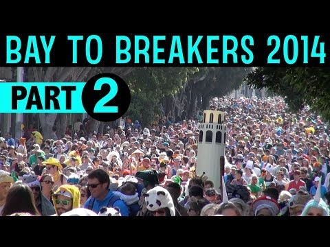 Bay To Breakers 2014 Part 2 - Everybody else - NOT the elite/seeded runners (excerpts/compilation)