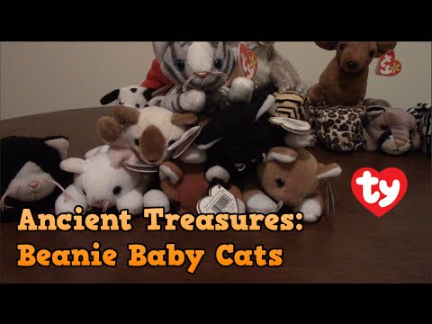 85bd33addf3 Ancient Treasures  Beanie Baby Cats - YouTube