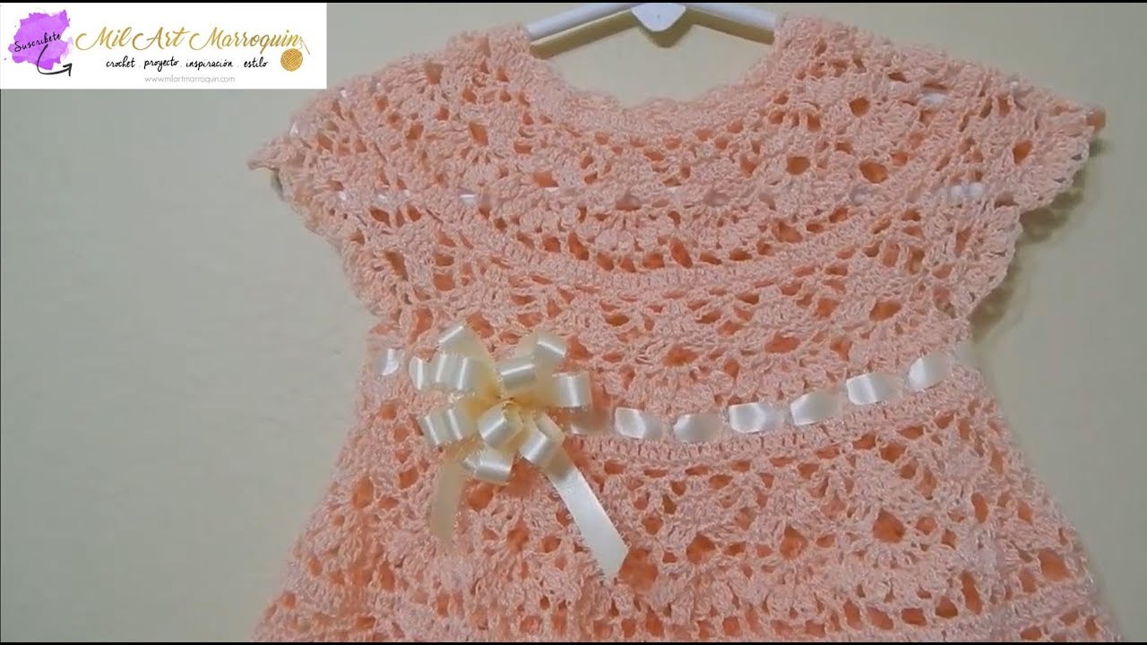 403ca21fe8232 How to Crochet A Baby Dress Any Size -- Part 1 - YouTube