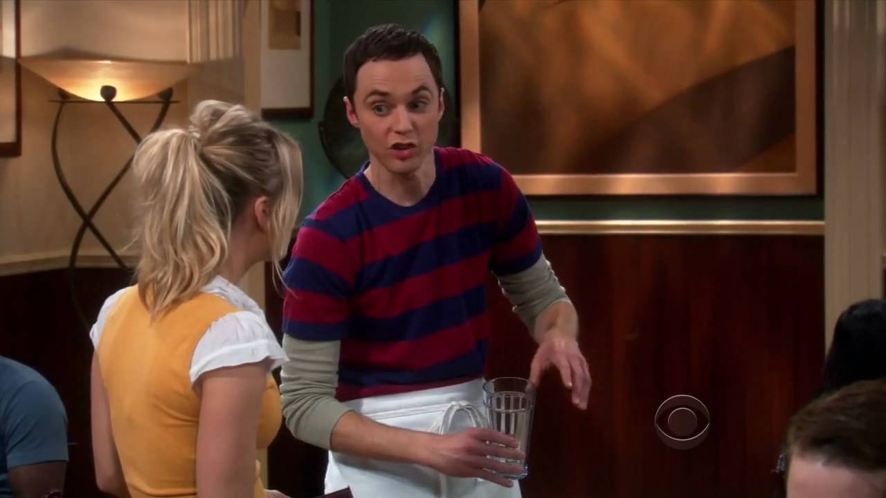 The Big Bang Theory - Sheldon works with Penny at the cheesecake factory