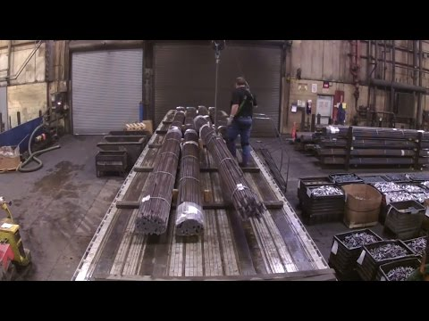 #48 Unloading Steel Rods The Life of an Owner Operator Flatbed Truck Driver Vlog