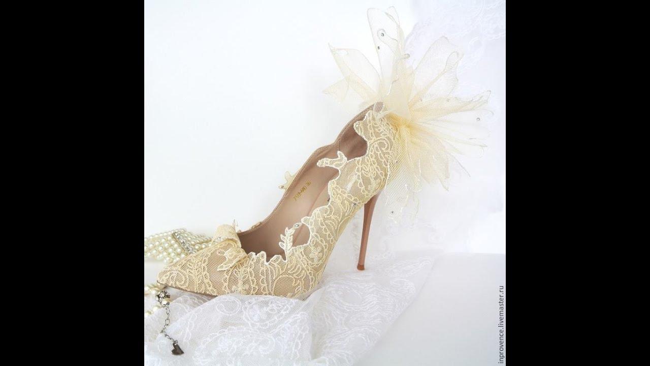 ed79d23f8 طريقه مختلفه لعمل حذاء العروسه||فكره مختلفه لعمل الجذمه لاي مناسبه بطريقه  سهله جدا|Wedding Shoes DIY
