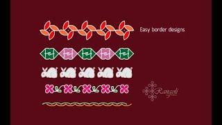 Border rangoli designs   Easy rangoli border designs   Dotted Border Kolam