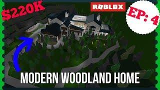 Roblox | Bloxburg: Modern Woodland Home (Speedbuild)