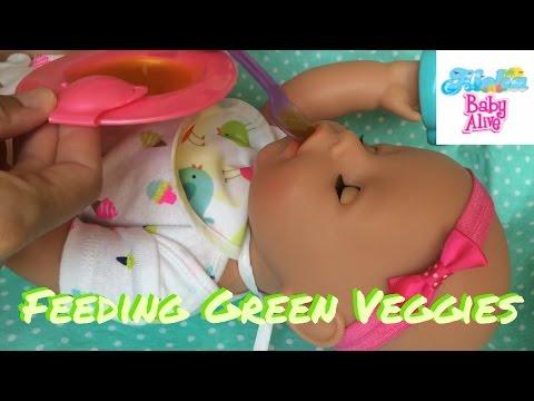 Baby Born Emma 8: Morning Routine & Feeding Green Veggies! + Potty Time!