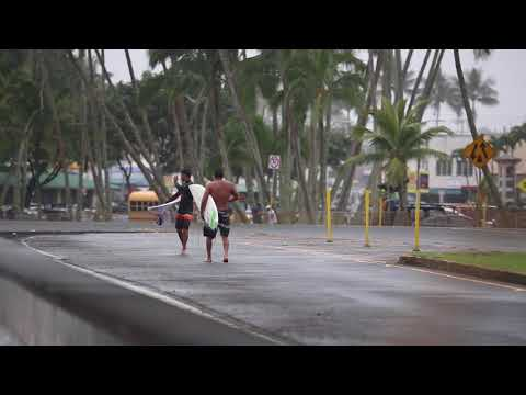 High Surf along Hilo Bayfront