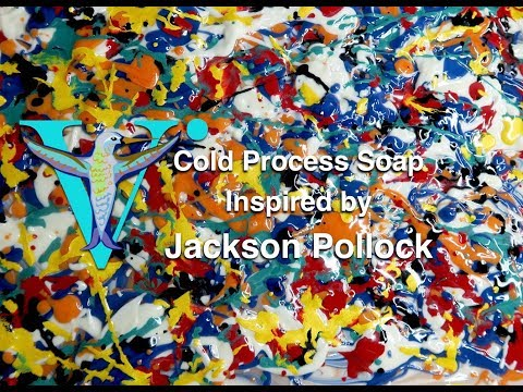 Soap Inspired by Jackson Pollock
