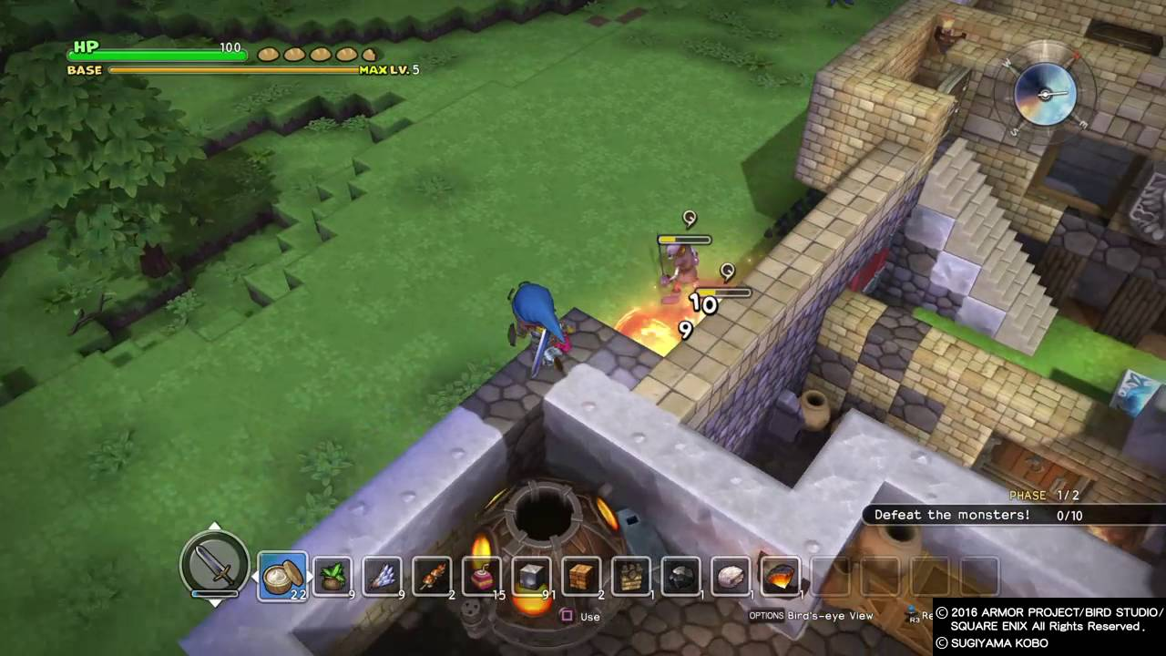 Dragon Quest Builders Cantlin Building A Cantlin Garden End The 6th Suppression Youtube