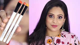 Simple PINK NUDE MAKEUP tutorial in hindi || classy glam look using colorbar eye makeup brushes ||