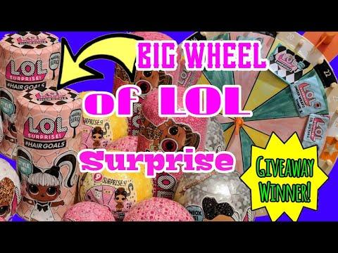 LOL Surprise BIG WHEEL Decide What LOL Series We Open + LOL Surprise #hairgoals + LOL Bling Series