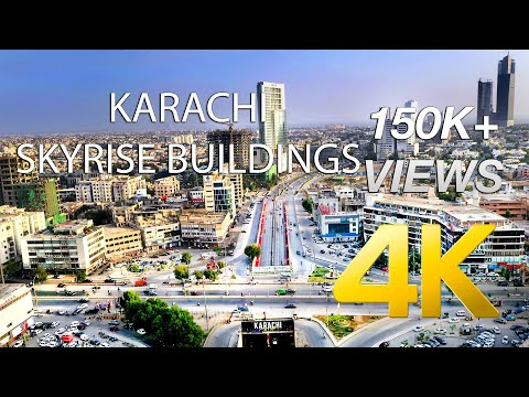 Karachi Skyline Montage Aerial 2020 Part 2 - 4K Ultra HD - Karachi Street View