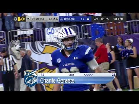 Prep Football: Owatonna vs Brainerd, State Semifinal (11/18/2017)
