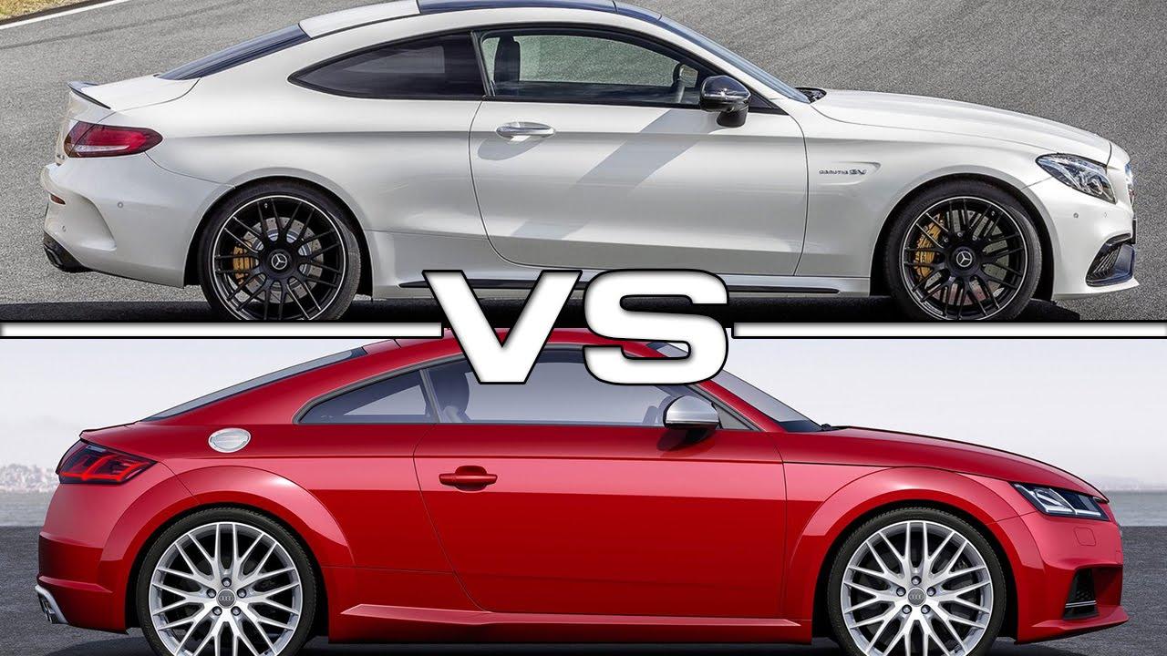 Mercedes C63 S AMG Coupe vs Audi TTS - YouTube