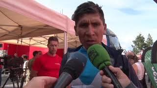 Nairo Quintana - entrevista en la meta - 19a etapa - Vuelta a España 2018