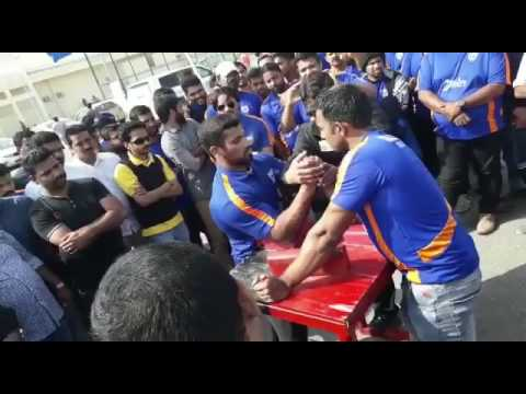 Qatar arm wrestling betting match