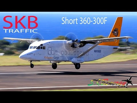 Flamenco Cargo Short 360-300F in action @ St. Kitts Robert L. Bradshaw Int'l Airport