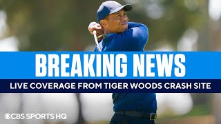 BREAKING: Live Coverage from <b>Tiger Woods</b> Crash Site | CBS ...