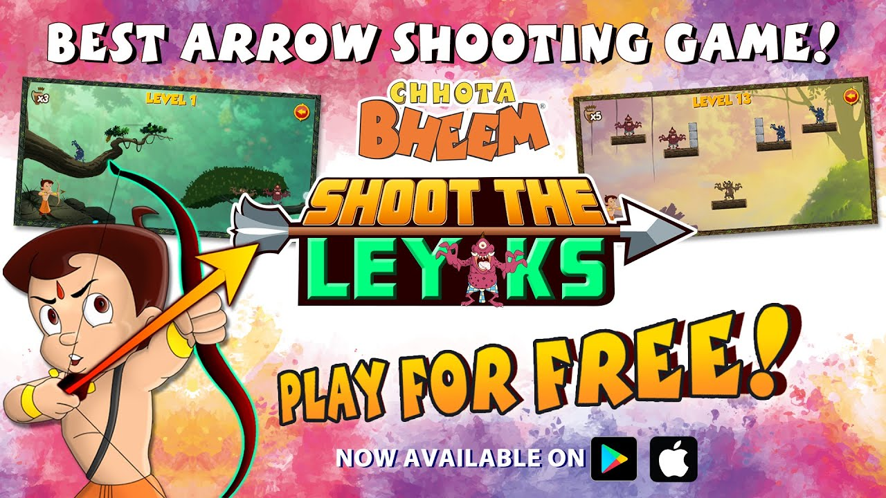 Chhota Bheem Shoot The Leyaks Game | New Holi Update | Now Available on Play Store & App Store