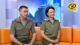 Полковник Сергей Андреев и сержант Юлия Фёдорова рассказали о празднике Дня десантника