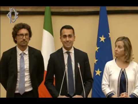 """Luigi Di Maio: """"Le dichiarazioni a seguito dell'incontro con il Presidente Roberto Fico"""""""