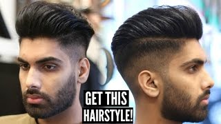 Repeat youtube video Skin Fade Pompadour - Mens Hairstyle & Haircut Tutorial - Mens Hair 2017