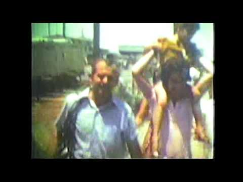 Home movie footage of Entebbe hostages arriving in Israel