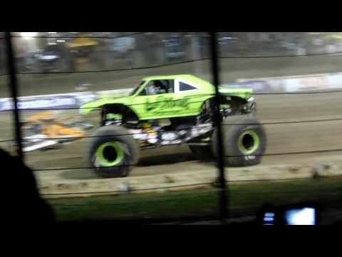 Gas Monkey - Free Style - Wheelie - Monster Jam 2016 - Lebanon Valley Speedway