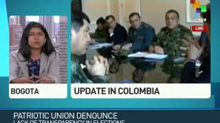 Colombia: Patriotic Union Charges Votes Not Counted