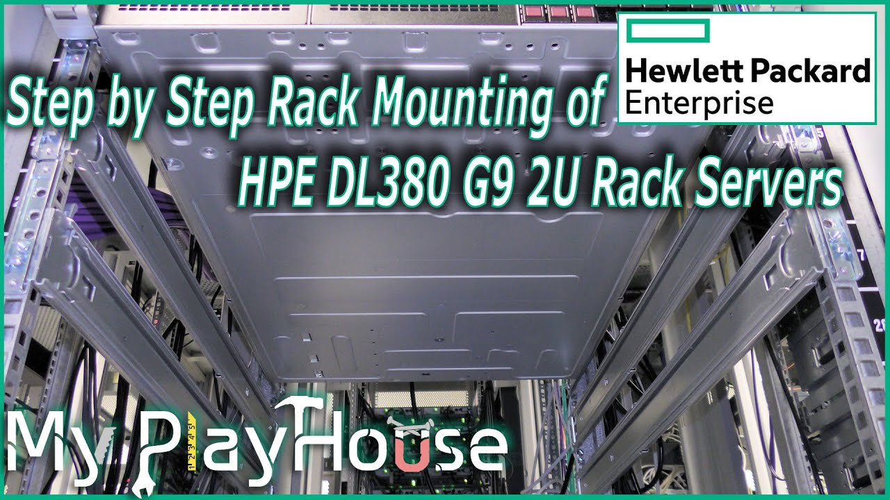 Rack mounting three HPE DL380 G9 in Data Center - 394