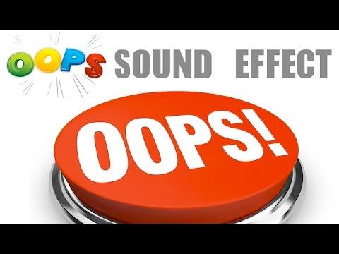 Oops Sound Effect | HQ