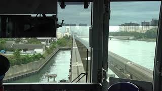 【前面展望】東京モノレール空港快速 羽田空港国際線から浜松町までノンストップ運転