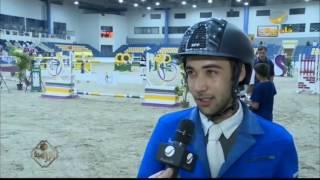 الفارس الشيخ علي القاسمي بطل الفئة الكبرى في ختام دوري الإمارات لقفز الحواجز