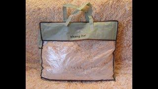 Распаковка и обзор: покрывало (плед) меховое с длинным ворсом