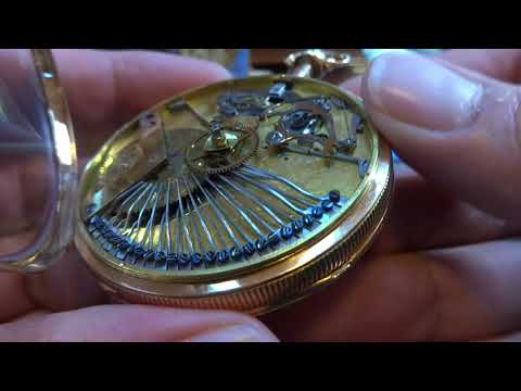 Antique musical sonnerie repeater pocket watch (musical movement profiled)