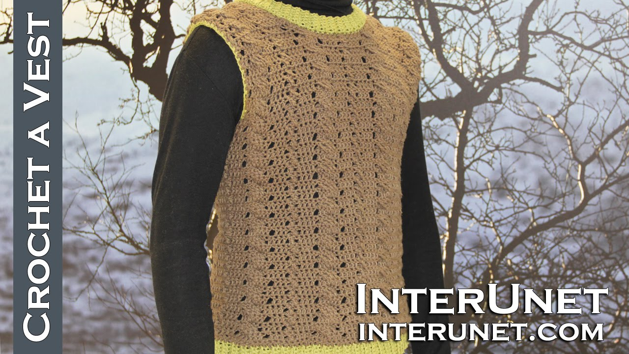 How to crochet a sweater vest for a man - sleeveless sweater ...