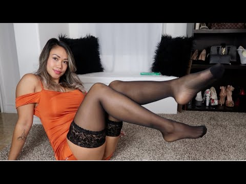 NEW HOLD-UPS STOCKINGS TRY-ON & REVIEW