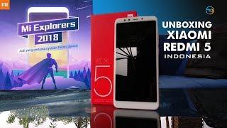 Unboxing Xiaomi Redmi 5 Indonesia (Gold) #MiExplorers2018