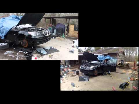 E60, 2004 BMW 545i, N62, N62B44, first start after rebuild