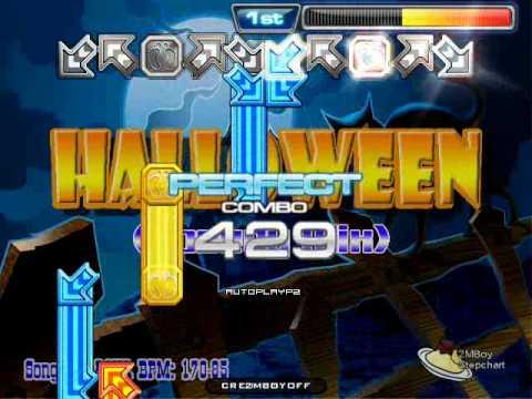 [Pump It Up Stepfile] Halloween (Speedy Mix) - Aqua (D18)